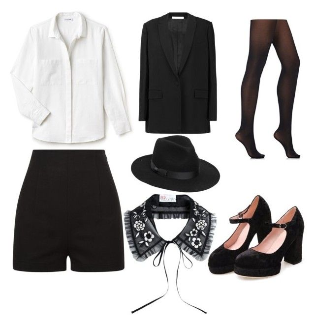 """""""Untitled #94"""" by denisapurple on Polyvore featuring RED Valentino, Givenchy, Lacoste, Lack of Color and Wolford"""