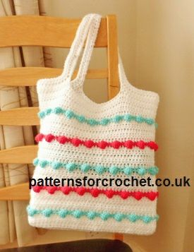 FREE crochet pattern for a Ladies Crochet Bag by Patterns For Crochet.