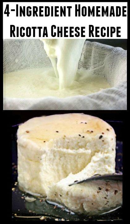4-Ingredient Homemade Ricotta Cheese Recipe