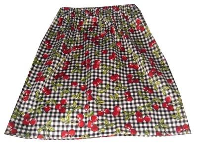 Rockabilly Cherry Pencil Skirt - Size 10