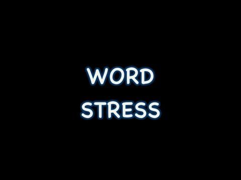 what is a stressed syllable example