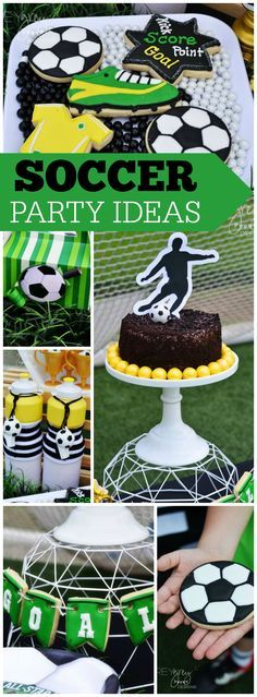 How cool is this soccer birthday party?! See more party ideas at CatchMyParty.com!