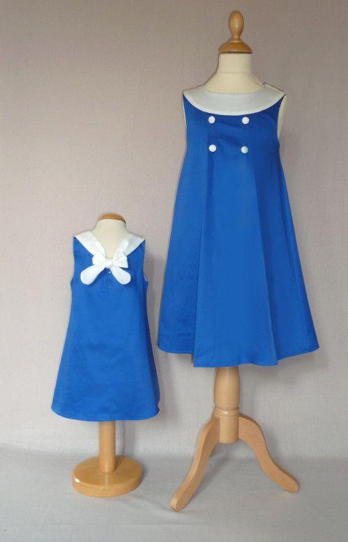 cortège robe Marine bleu électrique et blanc 1