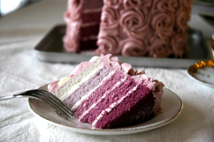 wow: Layered Cakes, Ombre Cakes, Pink Cakes, Food Blog, Wedding Cakes, Purple Cakes, Cakes Wedding, Sweet Cakes, Rose Cakes