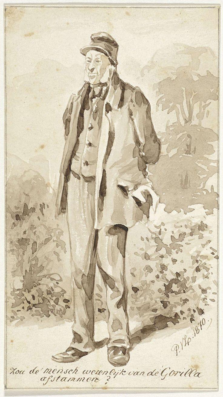 Pieter van Loon | Staande man met bakkebaarden, Pieter van Loon, 1870 |