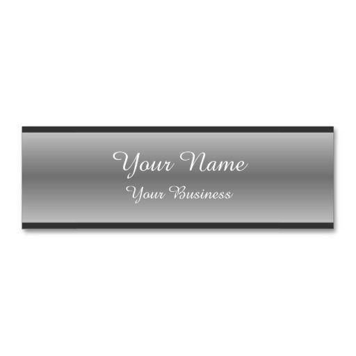 Minimalist Metallic Gray Business Cards