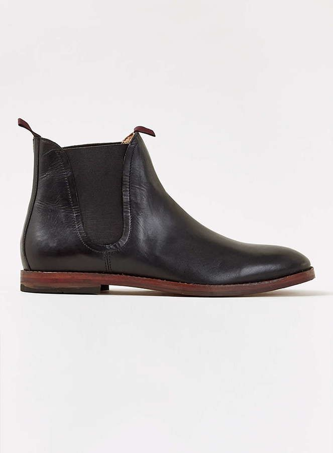 $220, Black Leather Chelsea Boots: Hudson Shoes Hudson Black Leather Chelsea Boots. Sold by Topman. Click for more info: https://lookastic.com/men/shop_items/335933/redirect