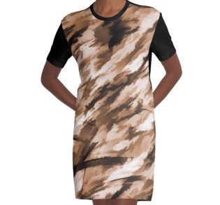 Graphic T-Shirt Dress #camo #camodress #camoprint #beige