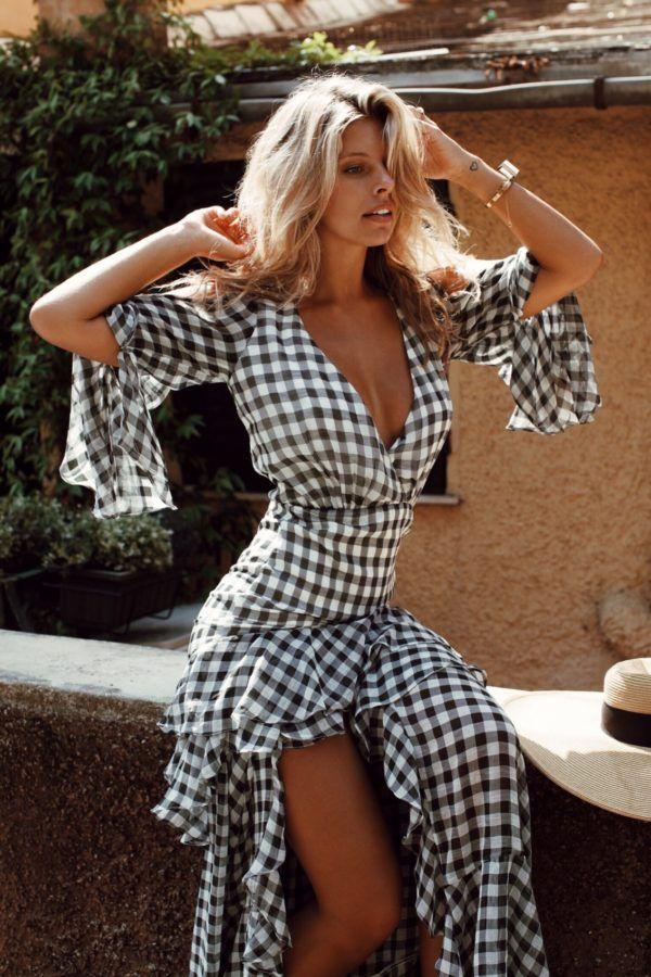 gingham | midi dress | tash oakley