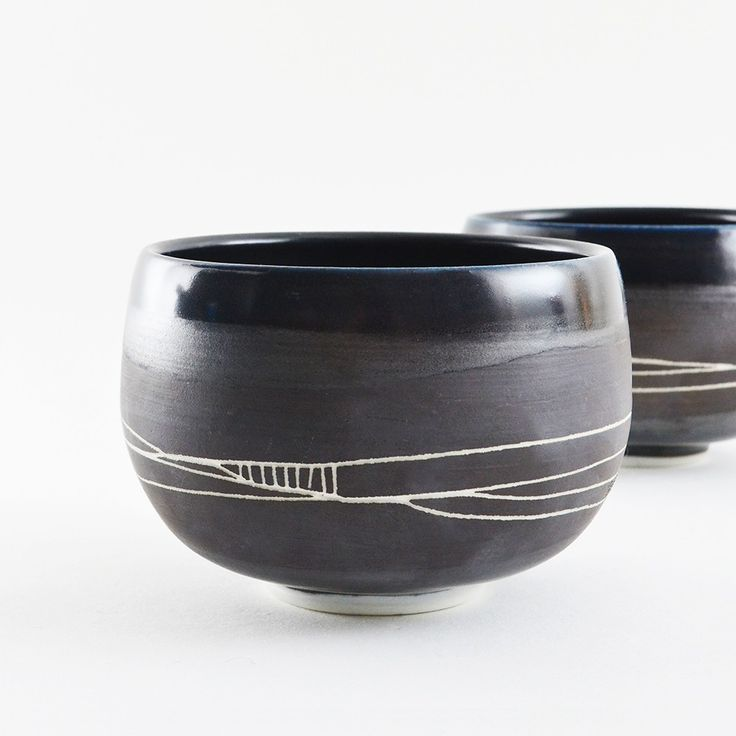 "Studio Joo Matcha Bowl ""Black and Satin"""