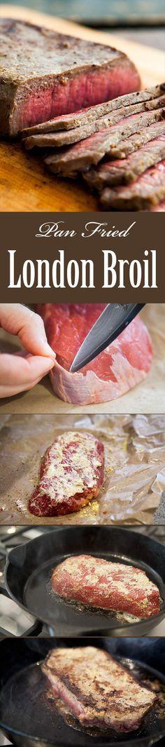 Pan-fried London Broil Steak | Recipe | London Broil Steak, London ...