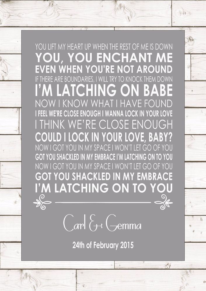 LATCH SAM SMITH Lyrics Wedding Anniversary Song Personalised First Dance Lyrics
