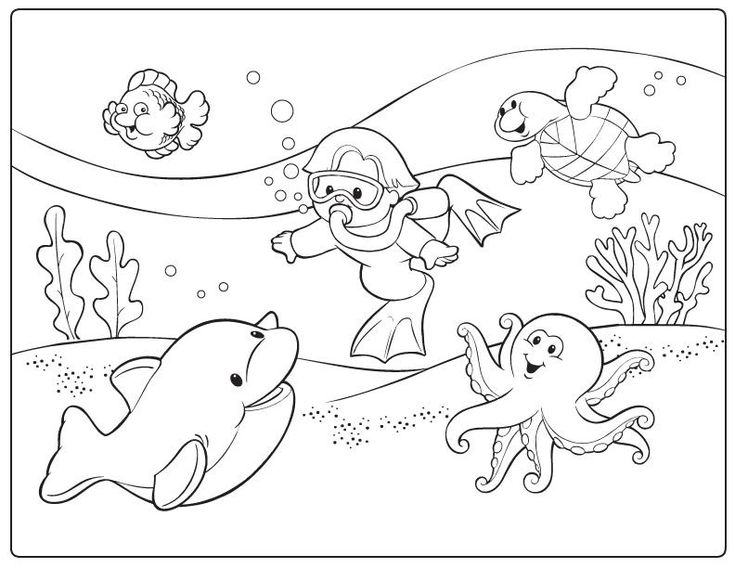 Bottom Of The Ocean Coloring Pages Ground