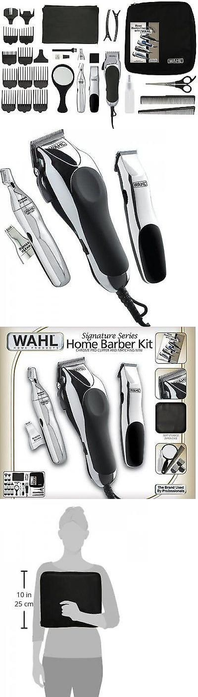 Shaving: Barber 30 Piece Kit Hair Men Shaver Cut Electric Trimmer Clippers Machine Wahl BUY IT NOW ONLY: $59.97