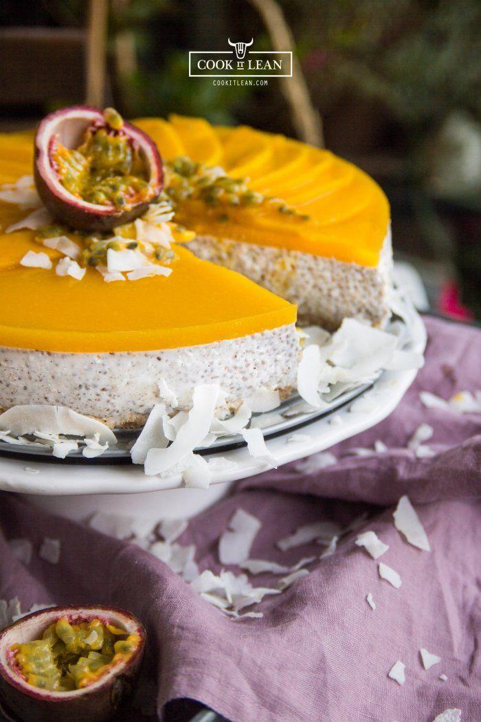 Tort kokosowo – owocowy, bez zbóż, bez jajek, bez nabiału, bez cukru, bez orzechów