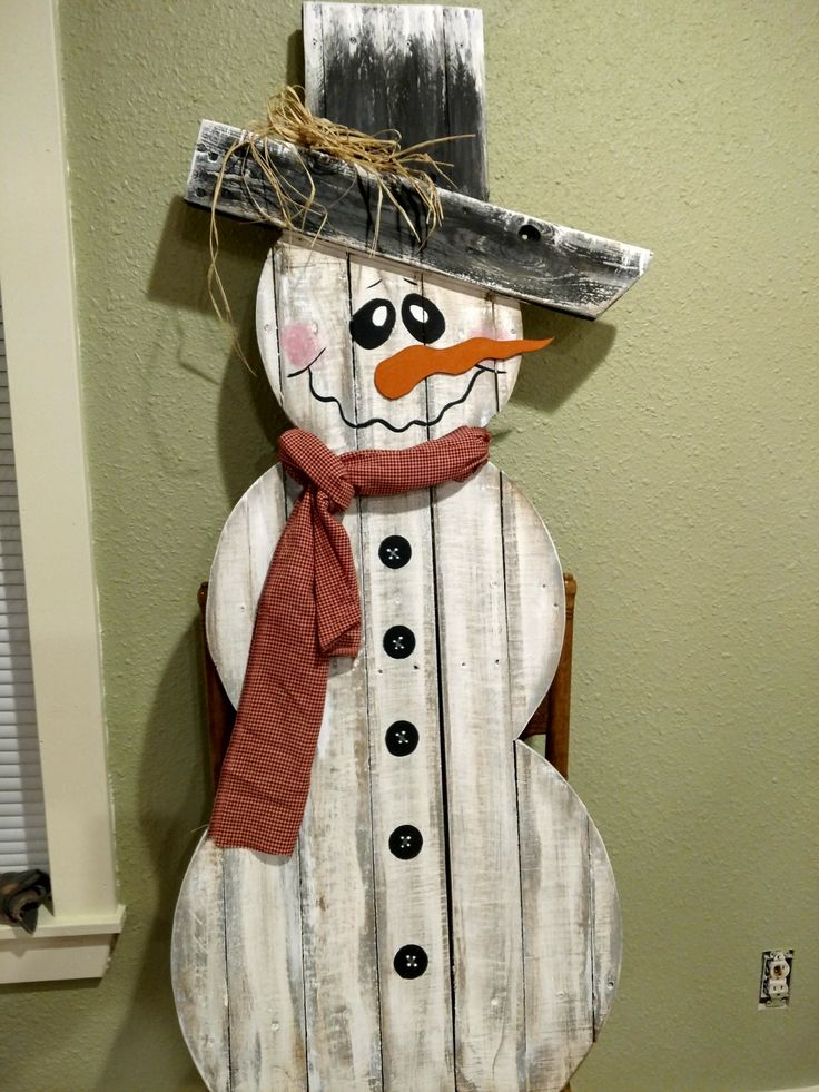 how to build pallet snowman