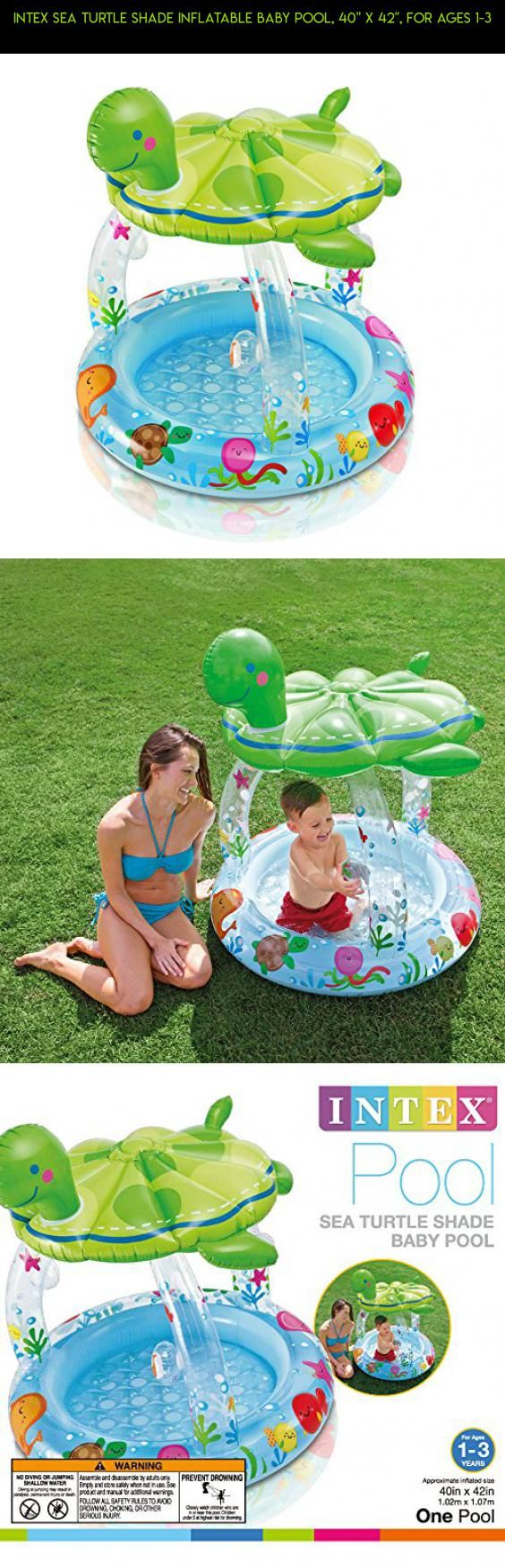 """Intex Sea Turtle Shade Inflatable Baby Pool, 40"""" X 42"""", for Ages 1-3 #parts #plans #baby #racing #shopping #inflatable #technology #products #camera #fpv #gadgets #pools #kit #drone #tech"""