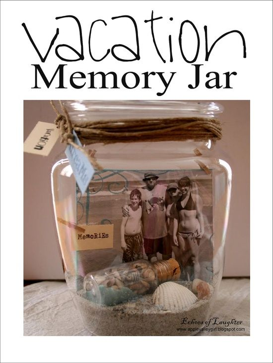 Om van elke bijzondere gebeurtenis een blijvende herrinnering te maken.: Crafts Ideas, Gifts Ideas, Crafty, Vacation Memories, Cute Ideas, Memories Jars, Vacations Memories, Diy, Photo