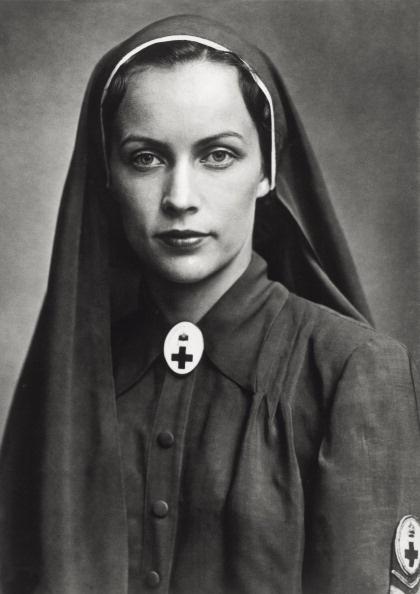 Countess Llona Edelsheim-Gyulai , widow of Hungarian Vice Regent, Istvan Horthy von Nagybanya, dressed as a Red Cross nurse, via Getty images