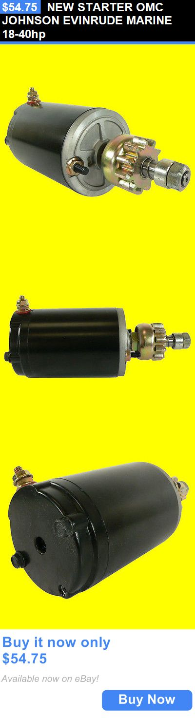 boat parts: New Starter Omc Johnson Evinrude Marine 18-40Hp BUY IT NOW ONLY: $54.75