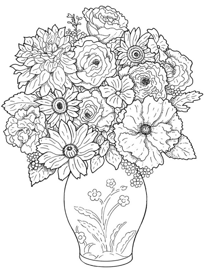 127 best Coloring pages Flowers images on Pinterest Drawings