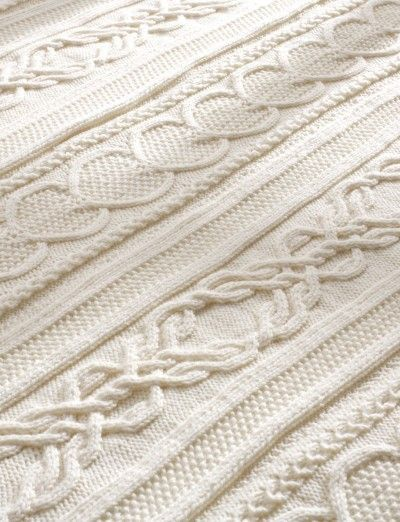 """Gift of Love Cable Afghan. Approx 43"""" x 55"""" Free cable pattern blanket to knit - LOVE the """"lover's knot"""" pattern."""