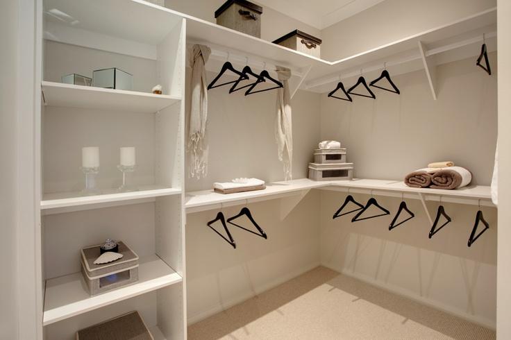 Walk in robe in the master bedroom suite. Monaco design by McDonald Jones Homes. #bedroom #design #luxuryhome #mcdonaldjones