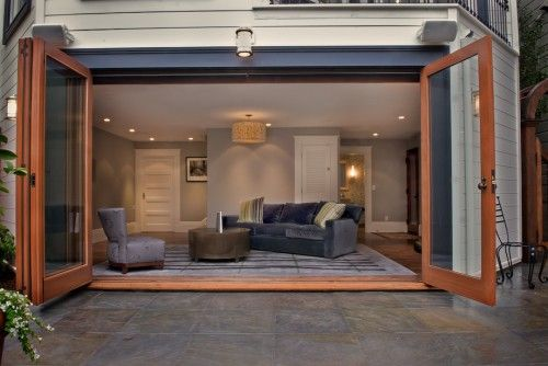 great doors for a converted garage, so it doesn't look like a converted garage!