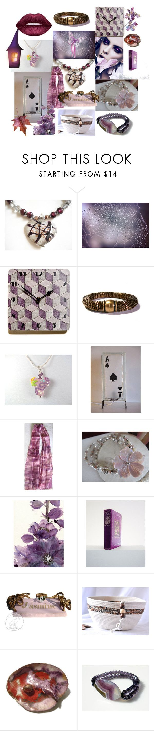 """""""Purple/Plum"""" by anna-recycle ❤ liked on Polyvore featuring Bibi, Lime Crime, modern, rustic and vintage"""