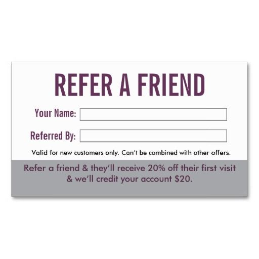 Best 25+ Refer A Friend Ideas On Pinterest | Standard Business