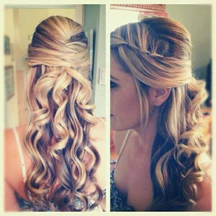 i wanna wear my hair down for homecoming this year and this is beautiful!