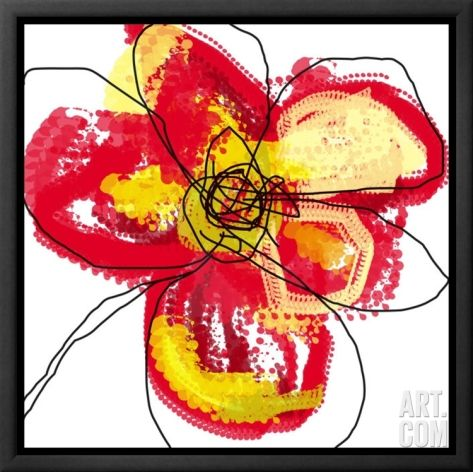 Red Petals Framed Canvas Print by Jan Weiss at Art.co.uk