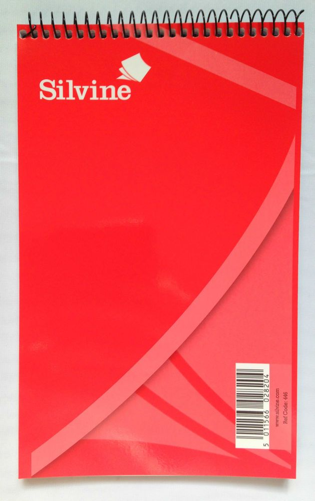SILVINE SHORTHAND SPIRAL NOTEBOOK 5X8 FEINT