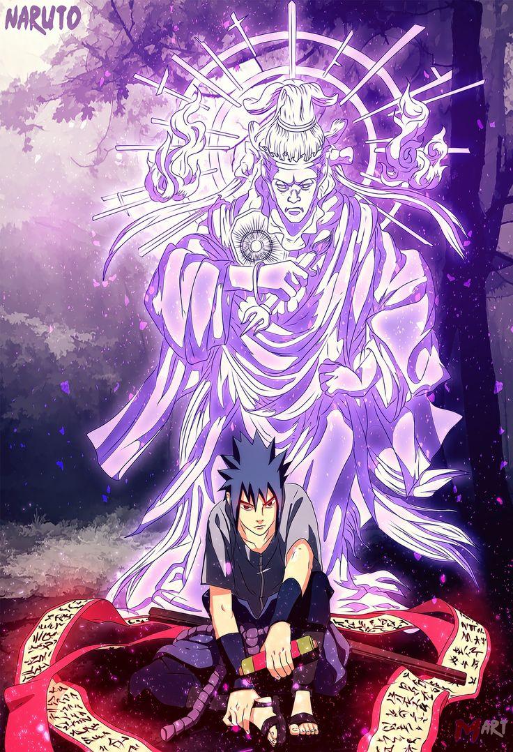 Awesome Susanoo Sempurna Sasuke di 2020 Seni anime