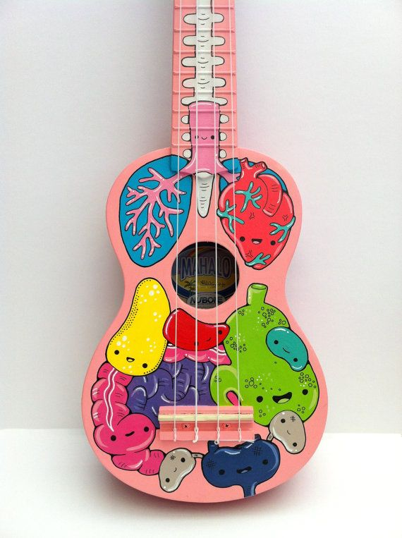Anatomy Custom Painted Ukulele von cosmicginge auf Etsy                                                                                                                                                                                 More