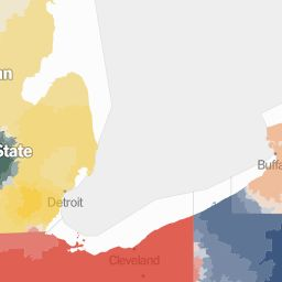 College Football Fan Map - NYTimes.com