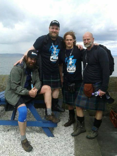 Outlander Team - off set still in Kilts :-)