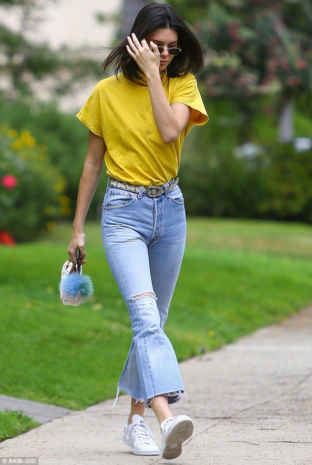 Update your denim with Kendall's Re/Done jeans #DailyMail Click 'Visit' to buy now