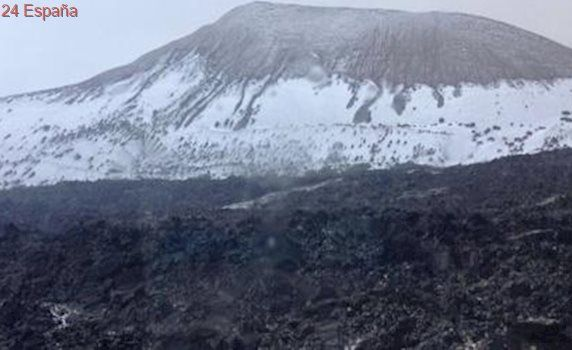 La alucinante nieve en Lanzarote
