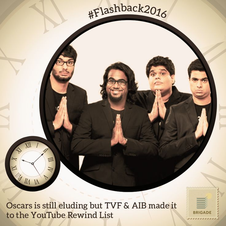 #AIB and #TVF star in the #YouTubeRewind 2016, as part of the year's most viral videos