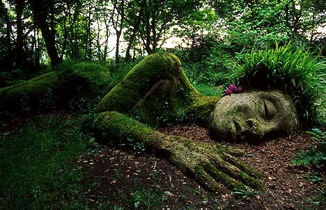 "The ""Grass Lady"" from Heligan Gardens, Cornwall, England"