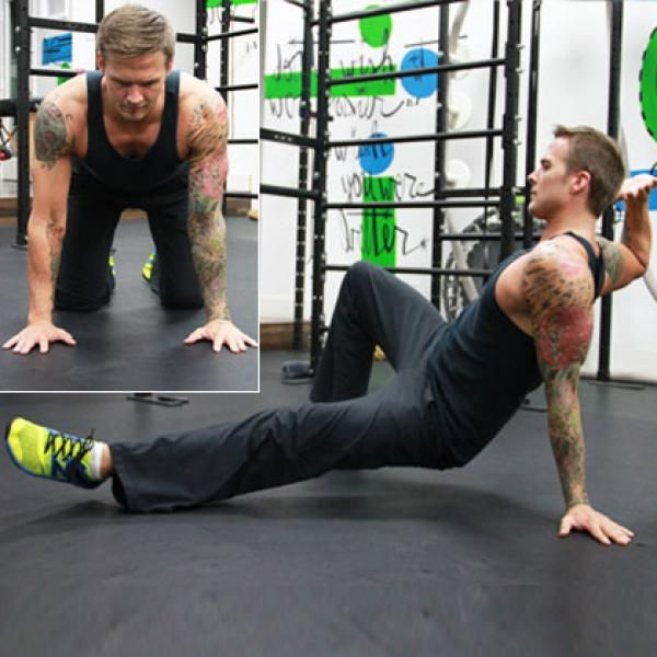 Body Weight Training: Side Kick Through - The Total-Body, Body Weight Training Workout - Shape Magazine