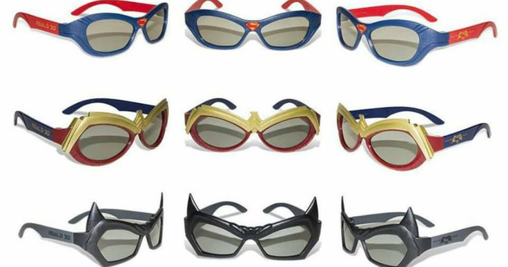 'Batman v Superman' 3D Glasses Unveiled -- Become your favorite member of the Trinity with three different sets of 'Batman V Superman' 3D glasses from Real D 3D. -- http://movieweb.com/batman-v-superman-3d-glasses/