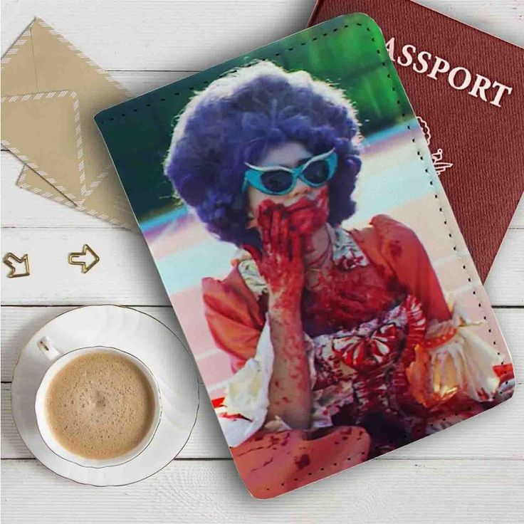 Grimes Flesh Without Blood Leather Passport Wallet Case Cover