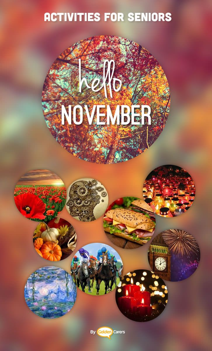 November Events & Ideas Nursing home activities, Elderly