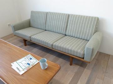 「02ビンテージ家具・雑貨 GE236 3シーター オーク」ハルタ 北欧家具ONLINE STORE