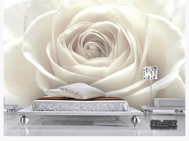 Black And White 3d Rose Wallpaper Designs For Living Room Walls New Options And Ideas To Decorate 3d Wallpaper Living Room Wallpaper Living Room 3d Wallpaper