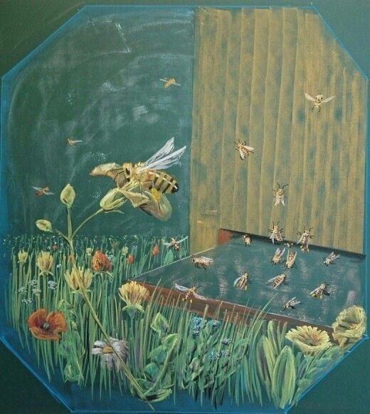 Chalkboard bee waldorfschool