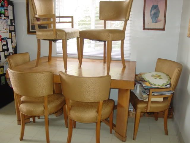 heywood wakefield blonde mid century modern dining table u0026 chairs