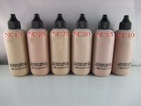 Libera el envío 2014 1PC marca de cosméticos 6 colores Marca Cara Líquido Y Cuerpo Fundación Marca Fundación 120ML